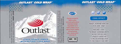 Outlast Cold Wrap Label